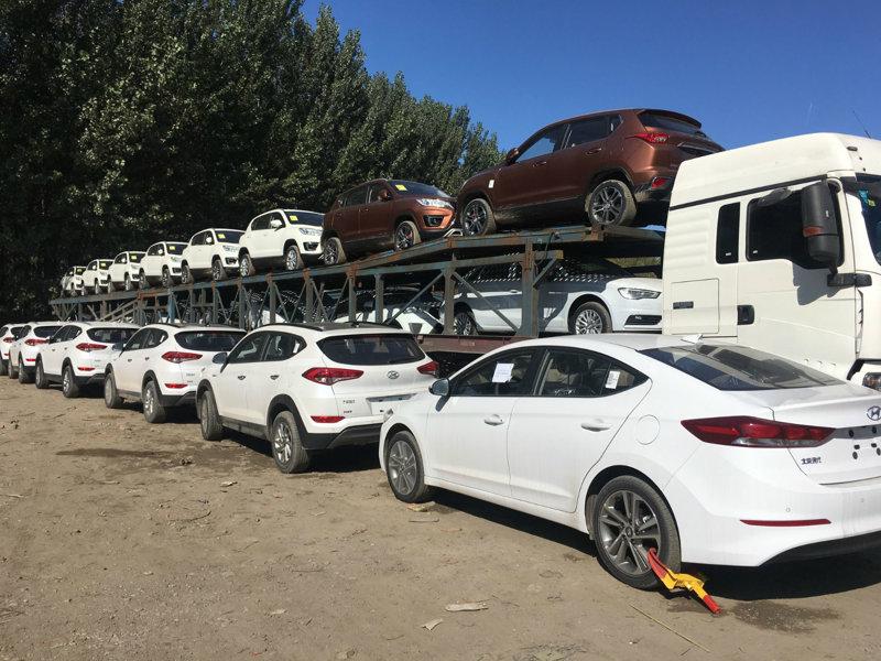 西安到喀什商品车托运公司装车流程1