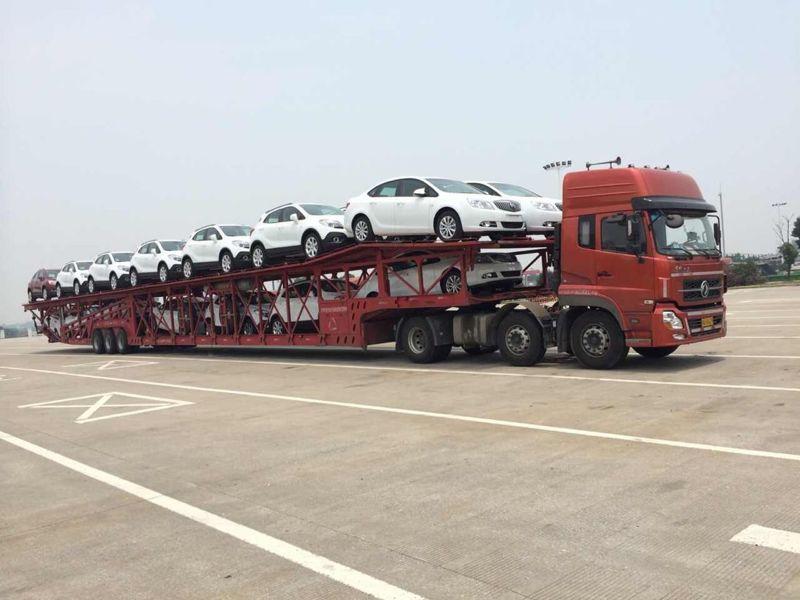 西安到百色商品车托运公司装车流程