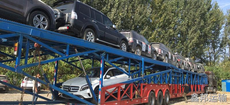 西安到合肥巡展车托运公司装车流程1